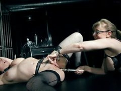 Nina Hartley plays with submissive lesbian girl