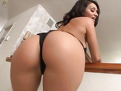 Charley Chase has her slit stretched with a big cock