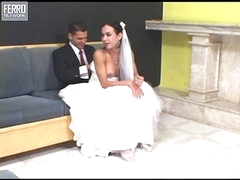 Calena mindblowing lady-boy bride