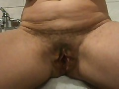 Hairy Mature Cunt spread