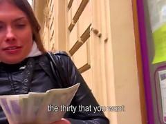 A mischievous brunette Irina makes a