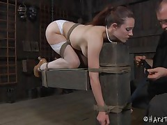 sexy body bitch bound and dildo fucked
