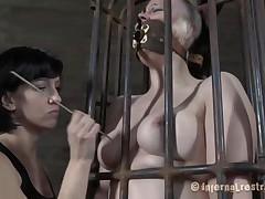 punk slut caged and punished
