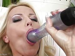 blonde masturbating until her brunette girlfriend comes to help