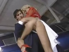 Hot doxy gets it hard in the parking lot
