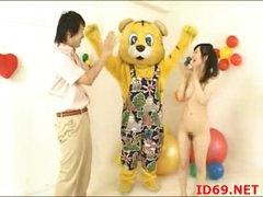 Japanese AV Model tastes her own pussy