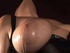Dungeon slut in black corset has fun sex